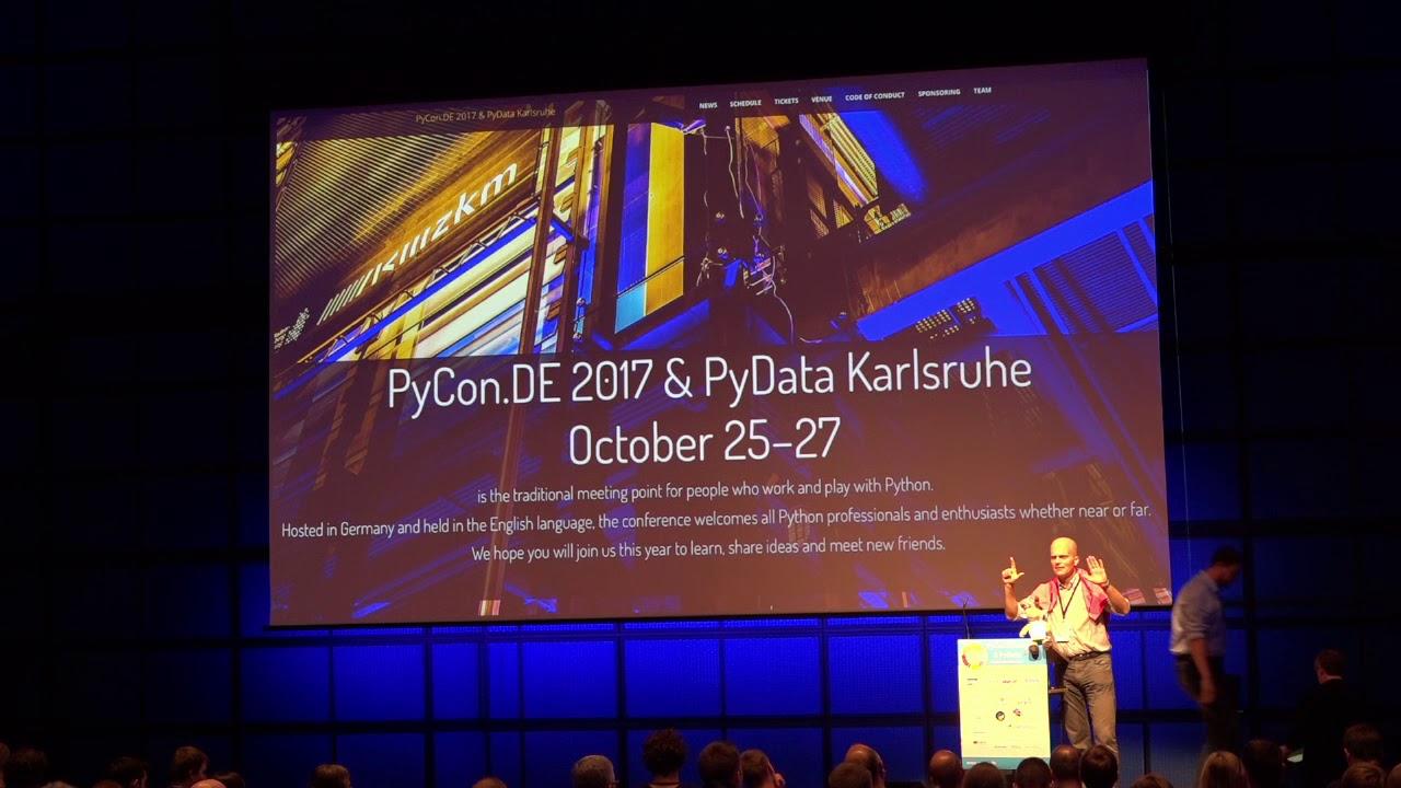 Image from PyCon.DE 2017 Lightning Talks Friday