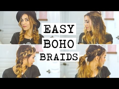 4 Easy Boho Braid Hairstyles