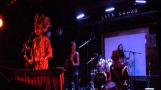 ZimbaMoto Afro-Fusion with Kurai playing marimba
