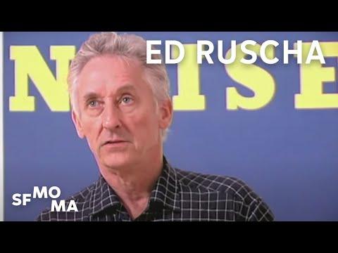 Ed Ruscha on working with gunpowder