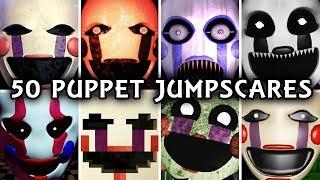 50 PUPPET JUMPSCARES! Marionette in FNAF &amp Fangames