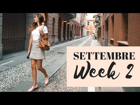 SEPTEMBER WEEK 2: COSA HO FATTO E INDOSSATO! Elisabetta Pistoni