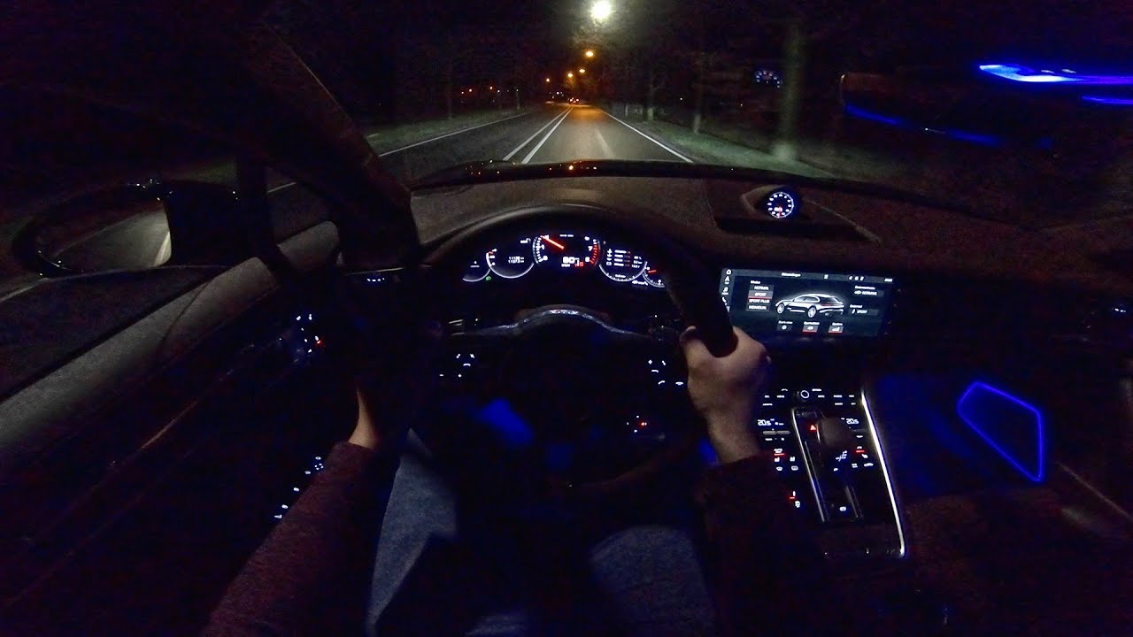 Porsche Panamera Turbo Sport Turismo Pov Night Drive By