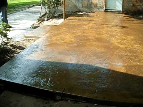 After Stamped And Colored Concrete With Acrillic Seal