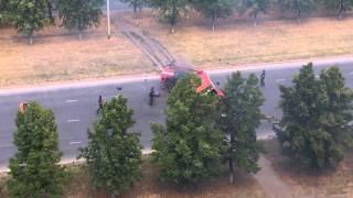 взрыв пожарной машины(съемки фильма)) Тольятти