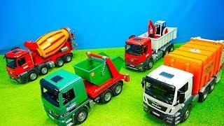 Müllauto amp; Mischerauto Feuerwehr amp; Containerdienst Bagger amp; Laster Traktor amp; Dumper Bruder
