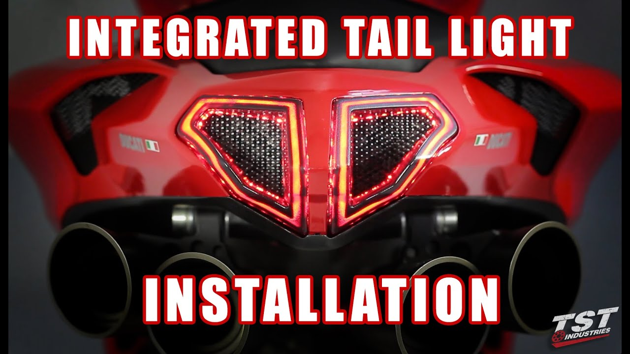 how to install integrated tail light on ducati 848 1098 1198 by tst industries [ 1280 x 720 Pixel ]