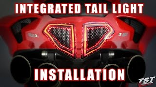 How to install Integrated Tail Light on Ducati 848 1098 1198 by TST Industries
