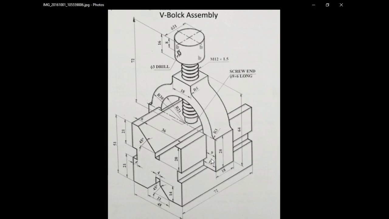 V Block Assembly