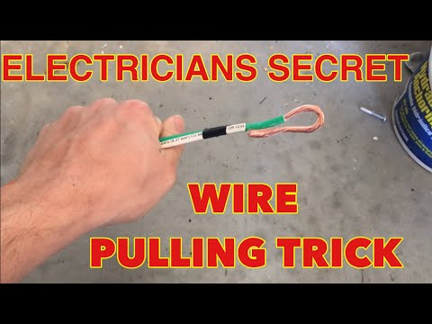 Electrical Wire Pulling Secret String Move
