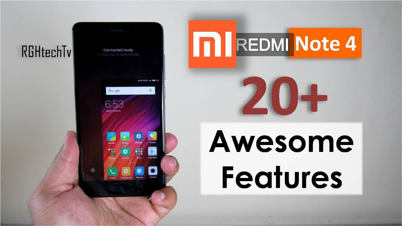 Xiaomi Redmi Note 4 Tips Tricks Features: 20+ Awesome Features Of Xiaomi Redmi Note 4