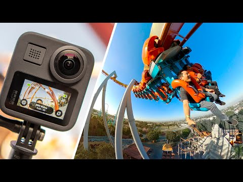 GoPro Max Review   360 Camera on a Rollercoaster