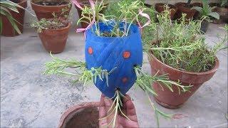 Make a Beautiful Planter from Plastic Bottle | Hindi/Urdu