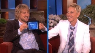 Ellen and Owen Wilson Play