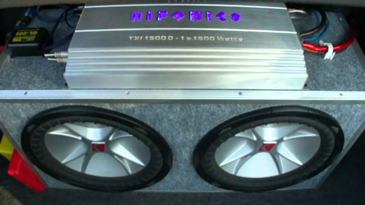 KICKER CVR 2 12'' & HIFONICS TXI-1500D