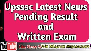 Upsssc Latest Update , Upsssc …