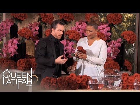 Jeff Leatham's Flower Arrangement Tips on The Queen Latifah