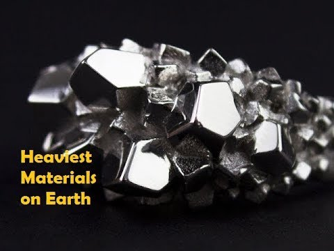 TOP 5 Heaviest Materials on Earth   Osmium   Top 5 to know