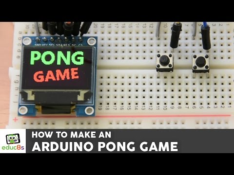 Arduino Game Project: Pong Game using an Arduino Uno and Color OLED display (SSD1331). Easy tutorial