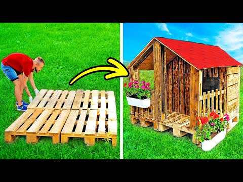 CHARMING Do It Yourself HOUSE WITH WOODEN PALLETS|| 23 DIY Projects With Epoxy And Wood, Workshop Gadgets - NewsBurrow thumbnail