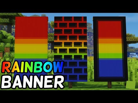 How To Make A Rainbow Banner In Minecraft! (1.14+) (LOOM CRAFTING)