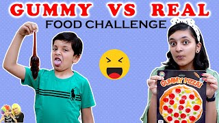 GUMMY vs REAL FOOD Challenge #Funny Eating challenge | Aayu and Pihu Show