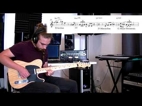 Black Cherry - Scott Henderson Guitar Solo Transcription and Playthrough