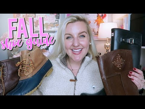 SHOES TO WEAR THIS FALL (PREPPY FALL SHOE GUIDE) Hunter, Tory Burch, JustFab & MORE || Kellyprepster