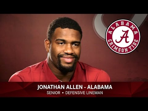 Jonathan Allen of Alabama - 2016 Lott IMPACT Trophy Watch List Candidate