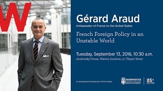 Baixar Gérard Araud ─ French Foreign Policy in an Unstable World