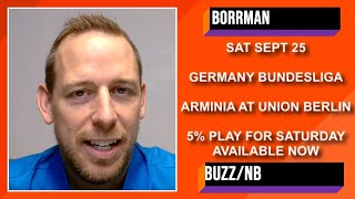 Bundesliga Picks and Predictions | Arminia vs Union Berlin Betting Preview | September 25