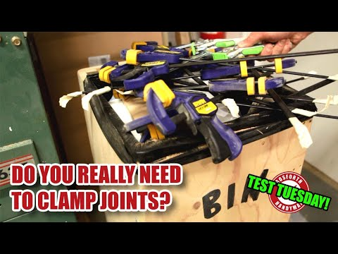 Does clamping glue joints make ANY difference? Test Tuesday!