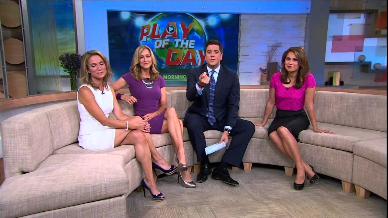 Amy Robach Slim Legs Short White Dress Aug 22 2013 Youtube