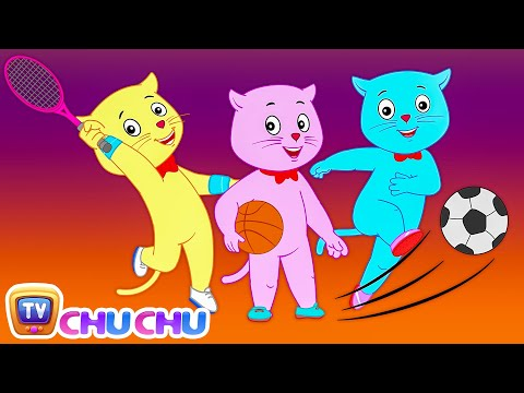 Three Little Kittens Played Games at Rio - Nursery Rhymes by Cutians™ - The Cute Kittens | ChuChu TV