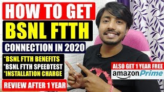 How to Get Bsnl Ftth Connection in 2020 | Bsnl Ftth Installation Charge,Speed,Benefits & My Review.