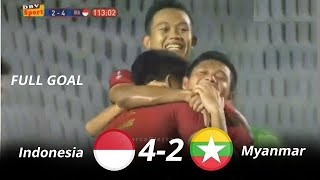 Indonesia vs Myanmar 4-2 Full Highlights Semi Final Seagames 2019 HD