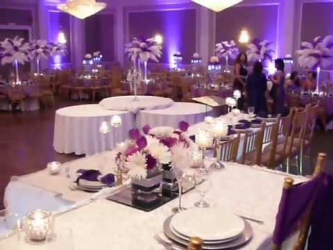 Purple Wedding Decor Ostrich Centerpieces