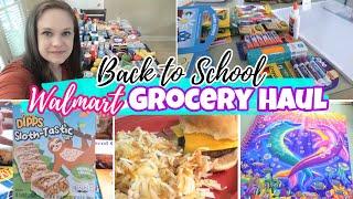 WALMART BACK TO SCHOOL / GROCERY HAUL 2020! | FAMILY OF SEVEN