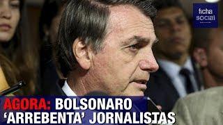 AGORA: BOLSONARO DÁ LIÇÃO PARA JORNALISTAS QUE ESTÃO TENTANDO SABOTAR O GOVERNO