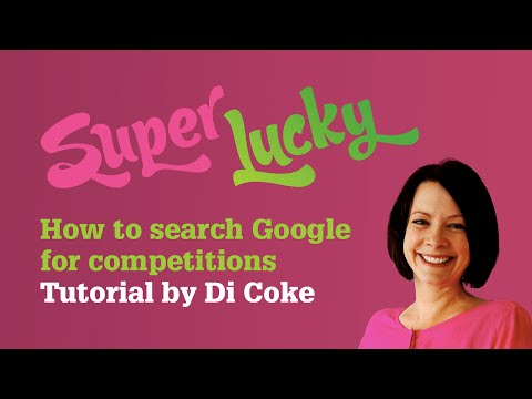 How to search Google for competitions and sweepstakes