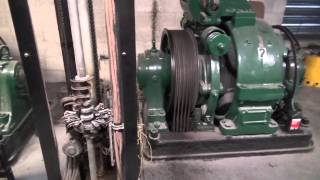 1958 Gearless Traction Otis Elevator Machine Room tour