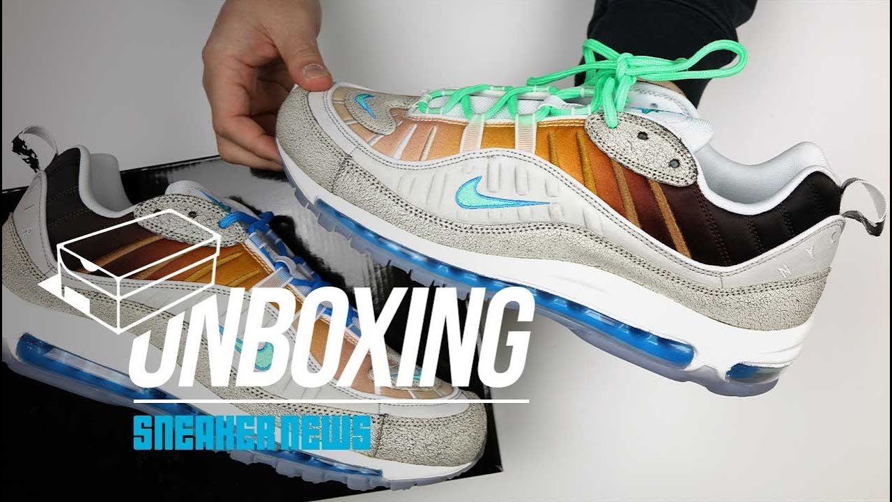 new style ead43 046b7 Air Max 98 On Air La Mezcla Unboxing + Review