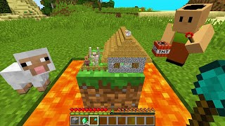 CURSED MINECRAFT BUT IT'S UNLUCKY LUCKY FUNNY MOMENTS real SMALLEST VILLAGE