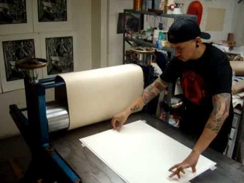 Printing the Linocut McShitter