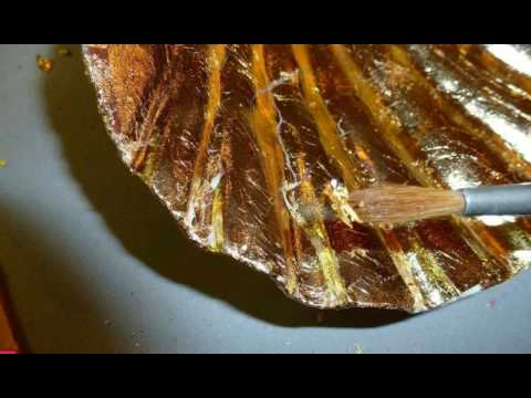 Easy Gold-Leaf Seashells