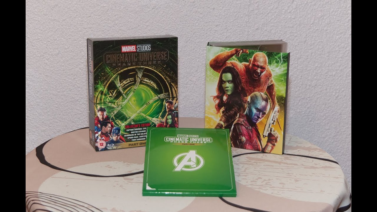 Marvel Cinematic Universe Phase 3 (part 1) Blu Ray Unboxing
