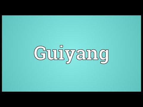 Guiyang Meaning