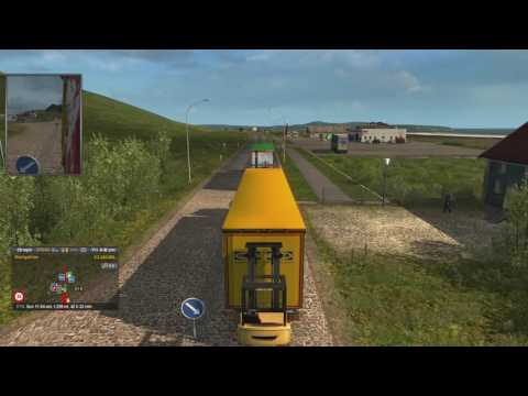 Let's Play Euro Truck Simulator 2 EP 164 Reykjavik to Oban Part 1