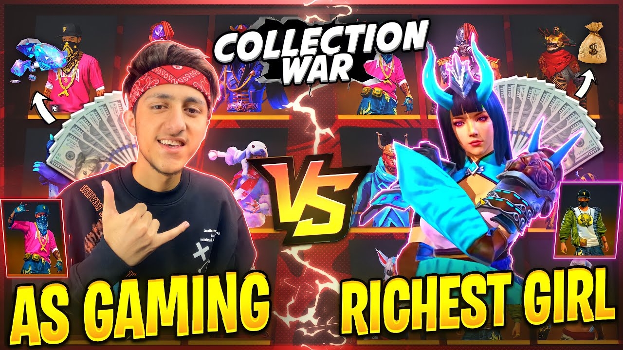 Rich Girl Challenge Me For Collection War? Free Fire Best Collection Who will Win- Garena Free Fire