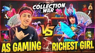 Rich Girl Challenge Me For Collection War😡 Free Fire Best Collection Who will Win- Garena Free Fire